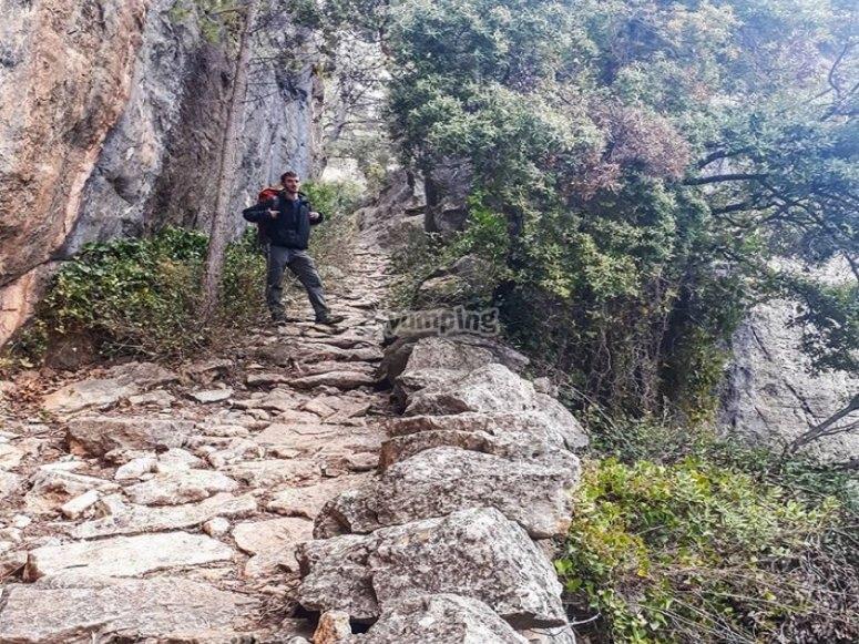 Haz rutas de montañismo