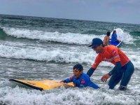 Primeros pinitos en el surf
