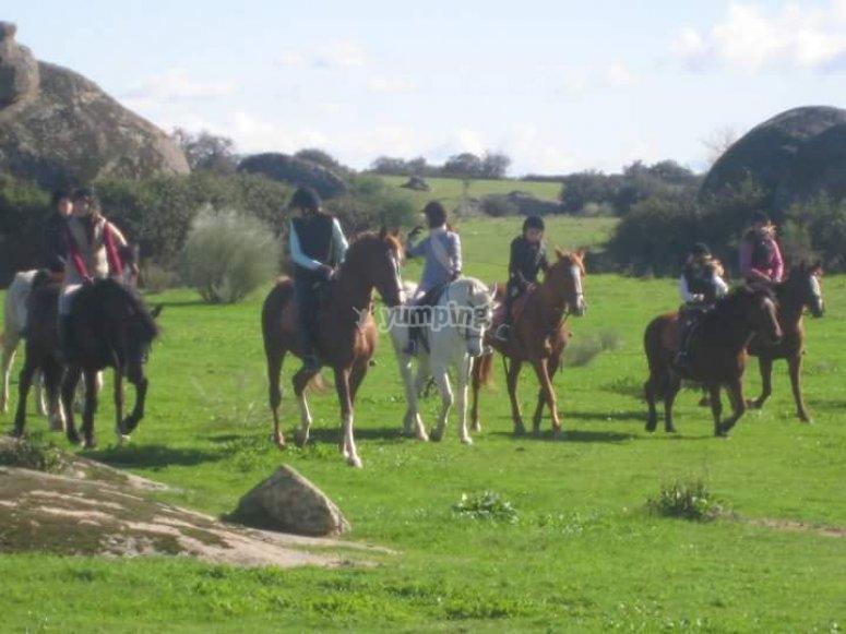 Monta a caballo en Caceres