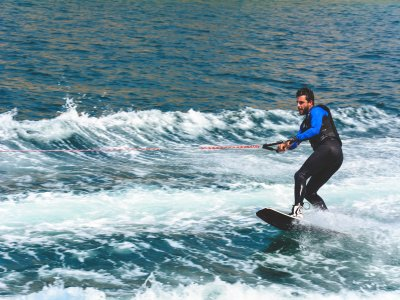 Wakeboard with Motorboat in Platja d