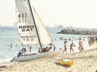 帆船教训蒙特加特享受大海
