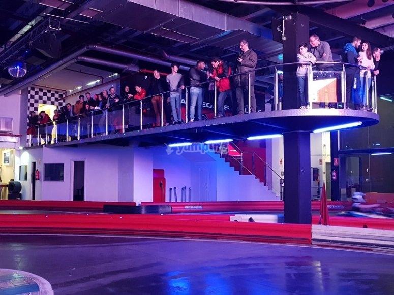 Mirador del circuito de karting