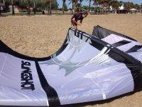 在沙扩展风筝线束