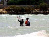 在加的斯学习风筝冲浪