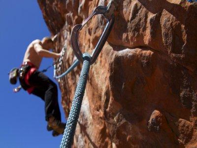 课程开始在卡索拉攀岩