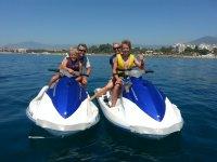 Salida moto de agua de Estepona a Puerto Banús 1h