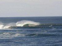 测试演习冲浪跳兰萨罗特岛冲浪浪