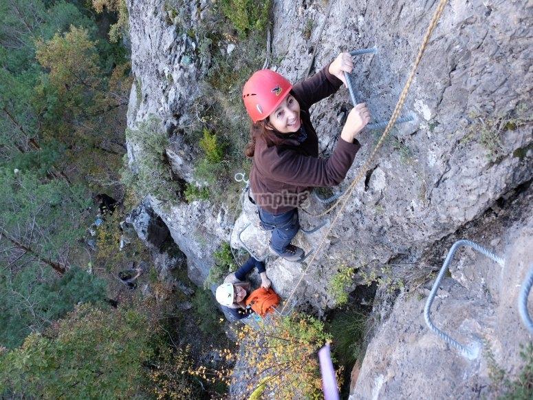 Climb the via ferrata