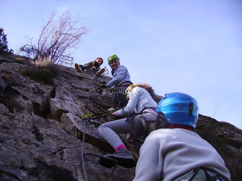 Ferrata with the family