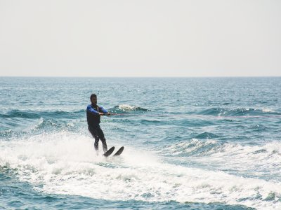 Water Skiing Practice in Platja d