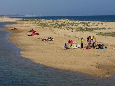 Curso de iniciación de kitesurf Isla Cristina 3H