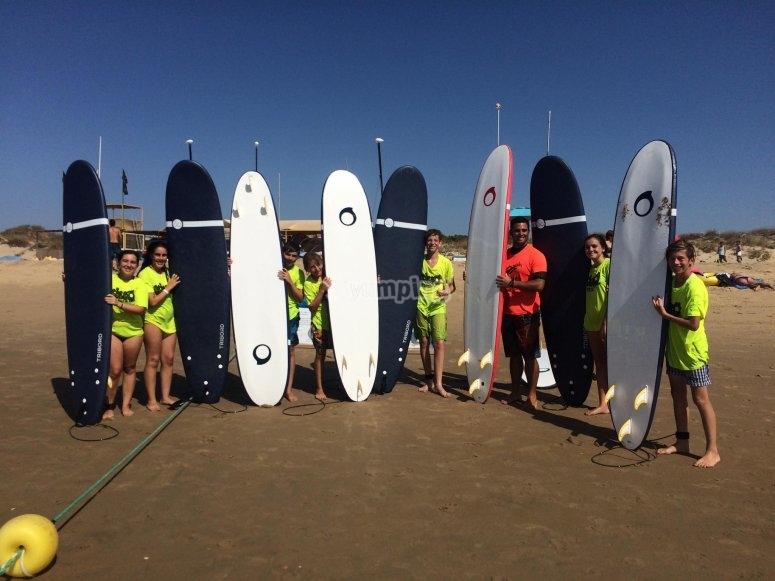 Preparati al surf