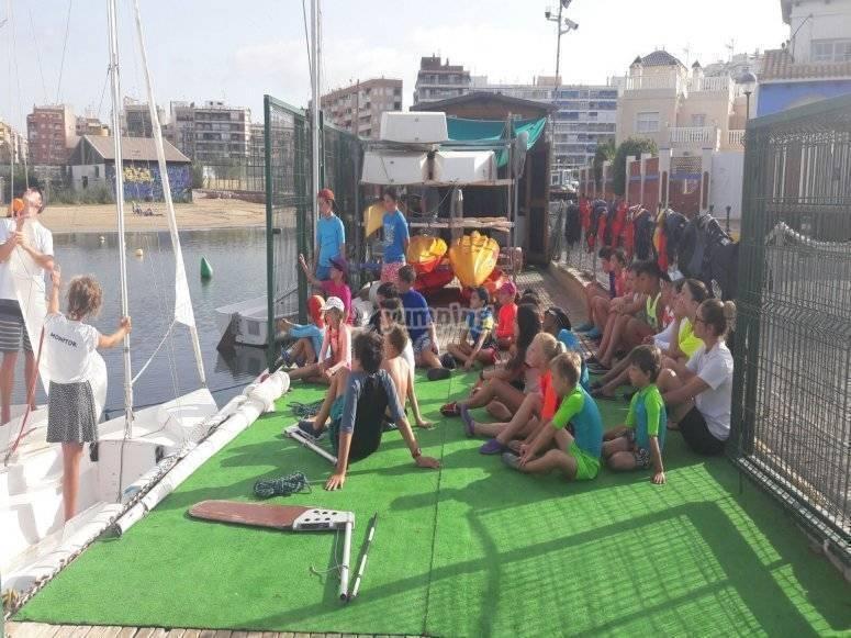 Alumnos de actividades nauticas