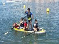 Little ones on a giant SUP