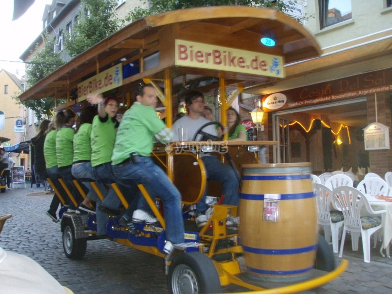 Bikebeer for a bachelor party