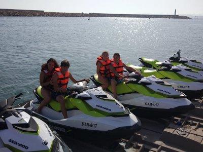 Ruta en moto de agua biplaza en Almería 40 minutos