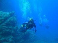 潜水员潜水洗礼