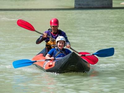 Descenso en canoa para familias en Huesca 3H NIÑO