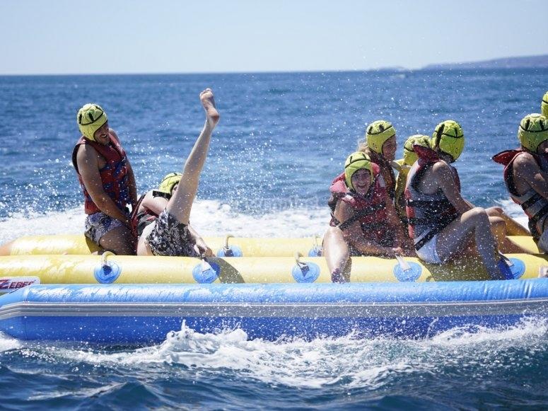 Banana boat en el Mediterraneo