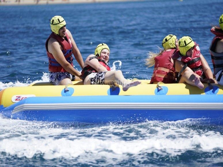 Banana boat con amigos