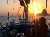 Sunset in a Sailboat at Mallorca + Appetizer