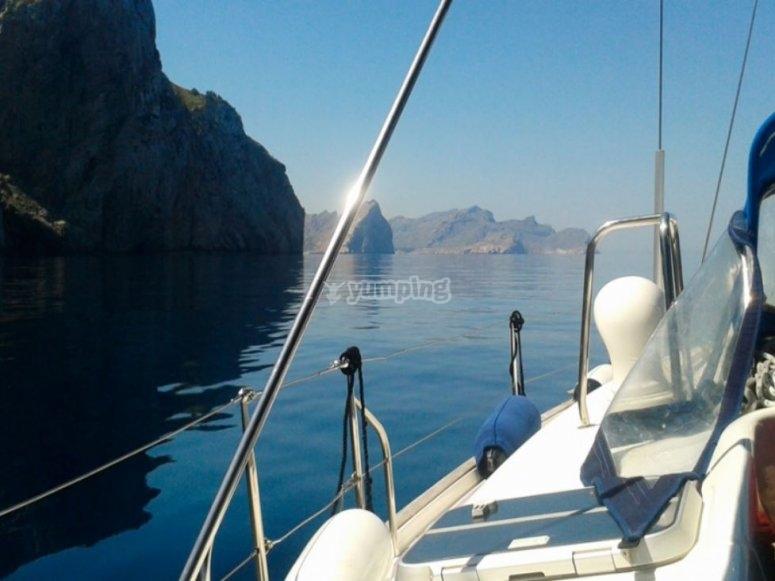 Costas baleares desde el barco