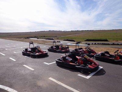 Carrera de karting en Valladolid 17 minutos