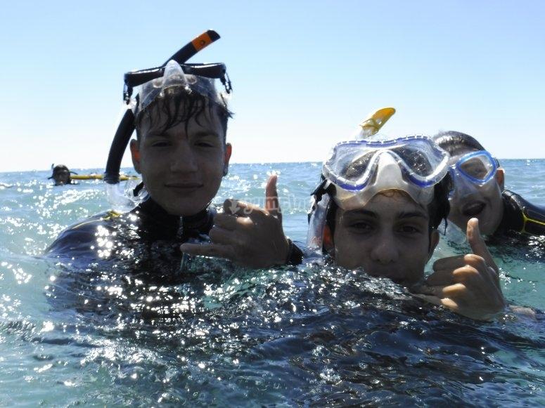 Bucea en el Mediterraneo