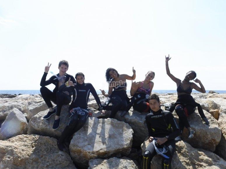 Campamento en Sitges