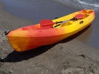 海岸上的皮划艇