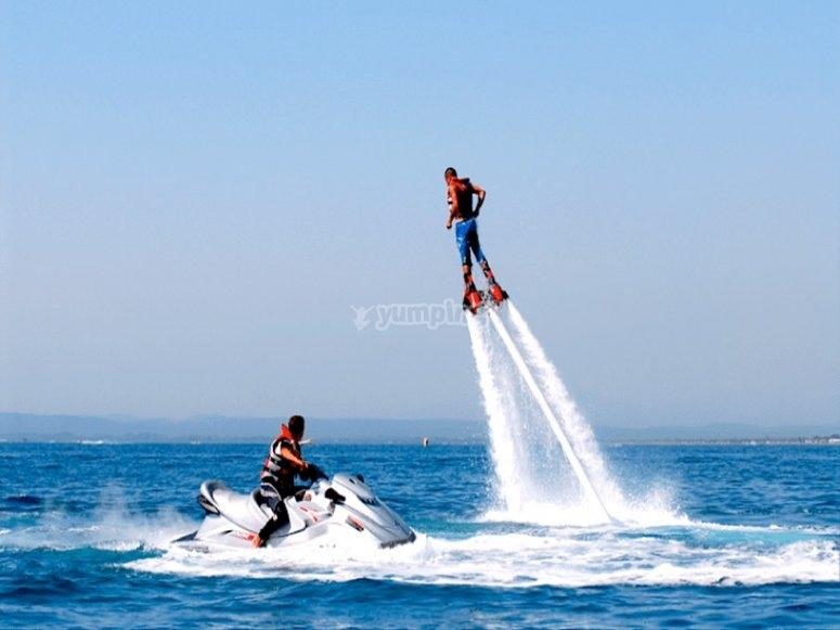 巴塞罗那的Flyboard