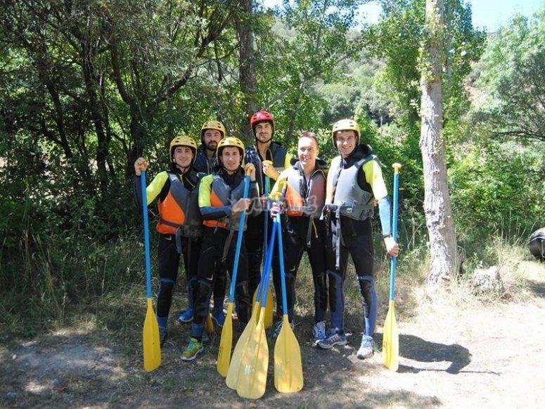 Preparados para el rafting