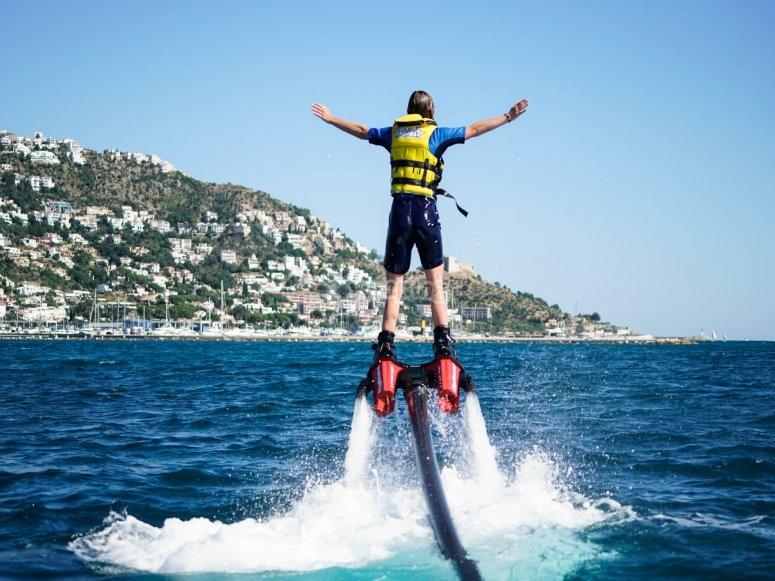 Flyboard在巴塞罗那