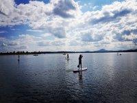 下午与朋友们划桨冲浪