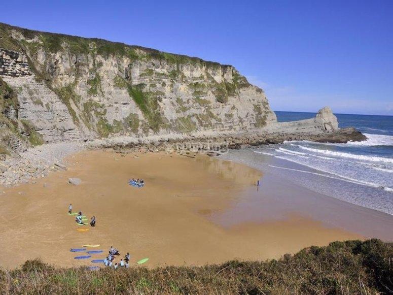 The beach where we surf