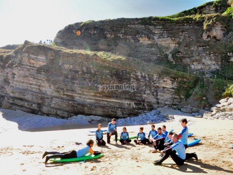 Exercises on the sand