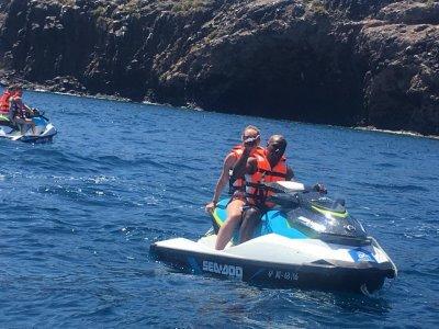 Percorso della doppia moto d'acqua alla spiaggia di Quemada 40 minuti