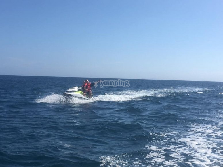 Moto de agua en Lanzarote