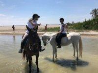 Paseo a caballo en la playa de Puerto Rey 2 horas