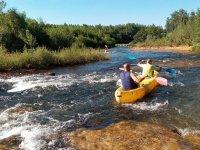 Canoas en el río Tera
