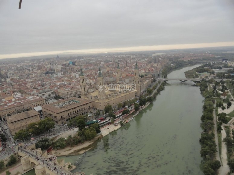 El Ebro dal globo