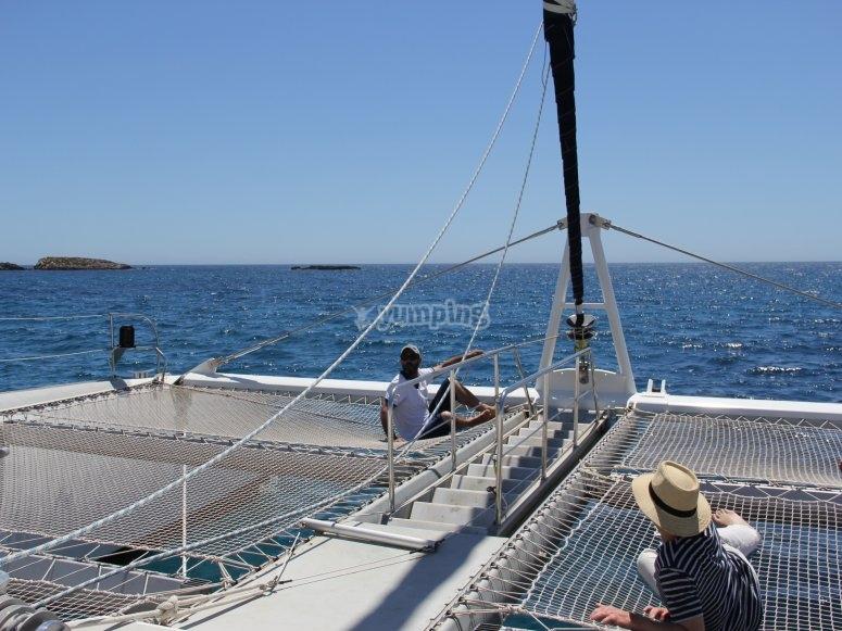 Snorkeling in catamaran