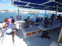 On board the catamaran on the Costa Blanca