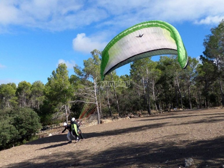 Controlling the paraglide to take-off