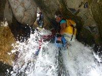 Natural slides in the Bolera ravine