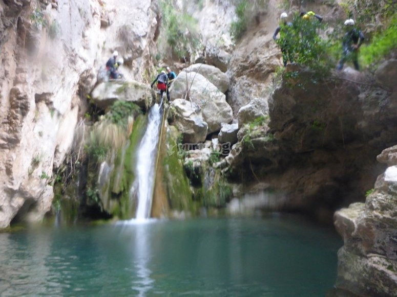 Canyon d'acqua a Granada