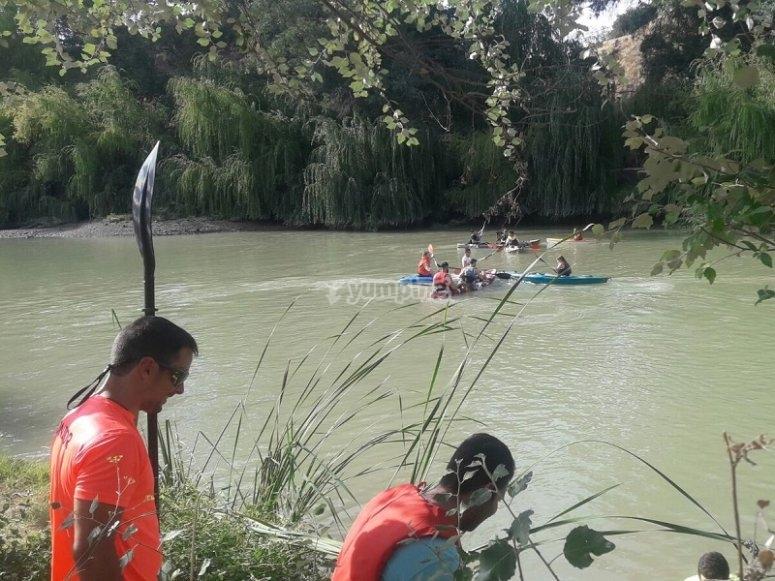 Accediendo al rio