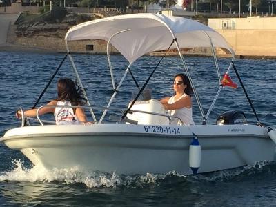Rent Astec Motorboat w/o License in Tarragona, 4h