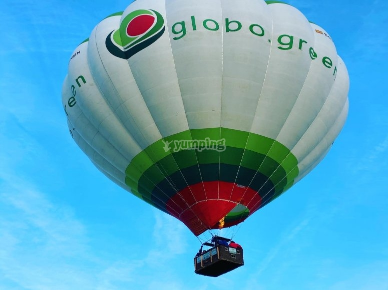 Landed balloon