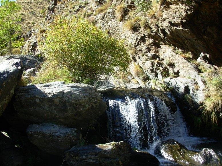 cascada  que veremos durante el camino